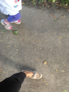 taking a walk at preschool on thursday...love my job