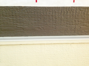 SO....here's the trim as it stands now. yeah. not white right??!! yellow, right??!! yes. i am right.