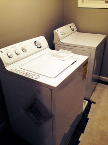 these puppies arrived yesterday! our washer/dryer is on our upper level with all the bedrooms...making my cinderella work a little easier :)