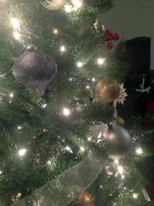 it's the year of the 'ball' for our tree this year. i think we counted over 200 on the tree this year..